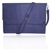 "Fabrique Blue Faux Leather Shoulder Strap Case Back Pocket Sleeve For 13"" Laptop"