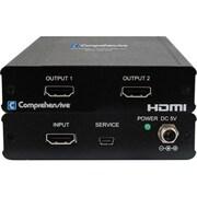 Comprehensive® 2 Port HDMI UHD Splitter, Black (CDA-HD200EK)