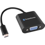 Comprehensive® Type-C USB 3.1/HD-15 VGA Male/Female Adapter Cable, Black