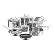Cuisinart® Professional Series™ Stainless Steel Cookware Set, 13 Piece, Silver (89-13)