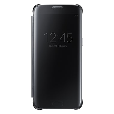 Samsung Clear View Cover GS7 Phone Case, Black