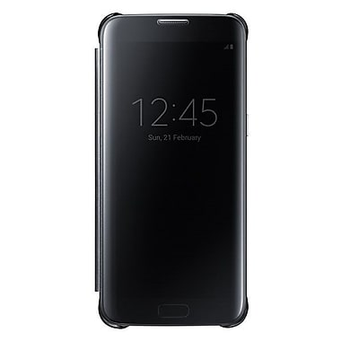 Samsung Clear View Cover GS7 Edge Phone Case, Black