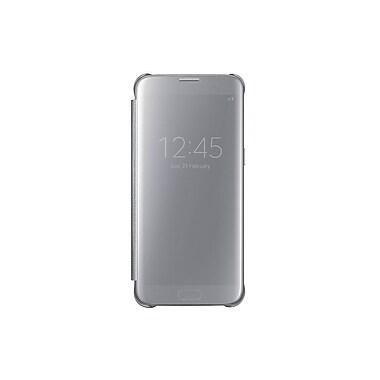 Samsung Clear View Cover GS7 Edge Phone Case, Silver