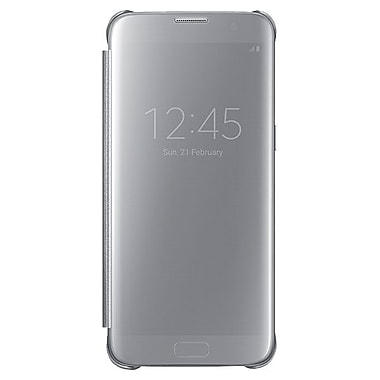 Samsung S View Cover GS7 Edge Phone Case, Silver