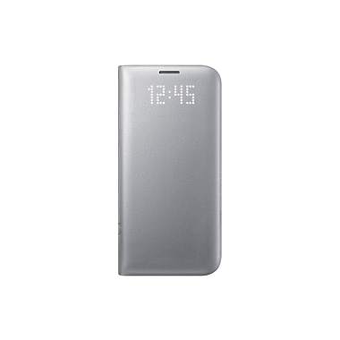 Samsung LED View Cover GS7 Edge Phone Case, Silver