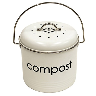 Cathay Importers Compost Bin, 3 Litre, White, 7
