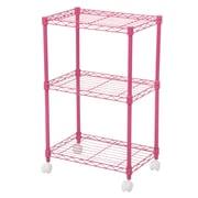 Wildon Home   DuVig 28'' H Three Shelf Shelving Unit; Pink