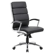 Boss Office Products Caressoft Plus Adjustable High-Back Office Chair; Black