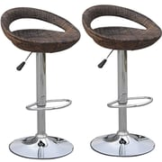 HomCom Modern Adjustable Height Swivel Bar Stool (Set of 2)