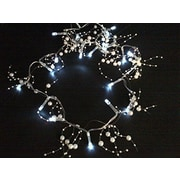 PerfectHoliday Garland Beaded String Light Battery Operated