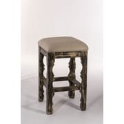 Hillsdale Carrara 30'' Bar Stool with Cushion; Blackwash