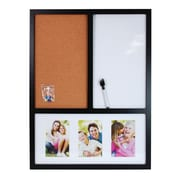 nexxt Design Memo Board with Dry Erase and Cork Wall Mounted Combination Boards, 2' H x 2' W