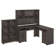 Bush Furniture Cabot Collection Lateral File, Heather Grey (CAB004HRG)
