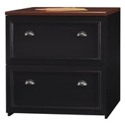Bush Furniture Fairview Lateral File Cabinet, Antique Black/Hansen Cherry (WC53981-03)