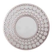 Wee's Beyond Diamond Wall Mirror; Light Pewter