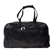 Piel Traveler Deluxe 17'' Leather Carry-On Duffel; Black