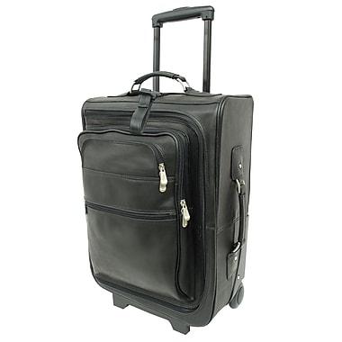 Piel Traveler 19'' Multi-Pocket Wheeler Suitcase; Black