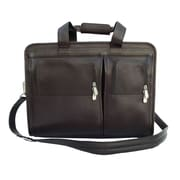 Piel Entrepeneur Professional Portfolio Laptop Briefcase; Chocolate