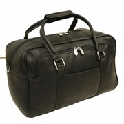 Piel Traveler 15.5'' Mini Leather Carry-On Duffel; Black