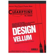 Clearprint 1000H Series Unprinted Vellum Sheets, 10 SH, 8.5'' W x 11'' D