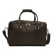 Piel Traveler 15.5'' Mini Leather Carry-On Duffel; Chocolate