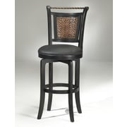 Hillsdale Norwood 26.5'' Swivel Bar Stool with Cushion; Black