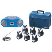 Hamilton Deluxe Wireless Bluetooth & Media Player Boombox Listening Center, 6 station