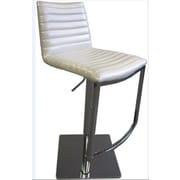 Bellini Modern Living London Adjustable Height Swivel Barstool with Cushion; White