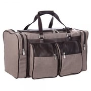 Piel 20'' Duffel Bag; Chocolate