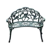 Outsunny Cast Iron Antique Outdoor Patio Garden Bench