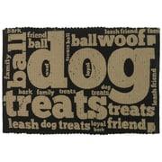 Park B Smith Ltd PB Paws & Co. Family Treats Cotton Pet Mat; Linen/Black