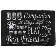 Park B Smith Ltd PB Paws & Co. Dog Companion Cotton Pet Mat; Black/Linen