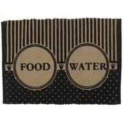 Park B Smith Ltd PB Paws & Co. Food/Water Cotton Pet Mat; Black/White