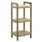 New Ridge Home Goods Beaumont Solid Birch Wood Shelf Tower; Blonde