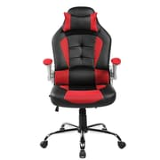 Merax Leather Office Chair; Red/Black