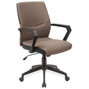 Leick High-Black Office Chair with Arms; Brown