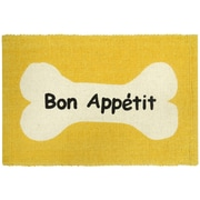 Park B Smith Ltd PB Paws & Co. Bone Appetit Cotton Pet Mat; Lemon
