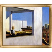 La Pastiche 'Office in a Small City, 1953' by Hopper Framed Painting