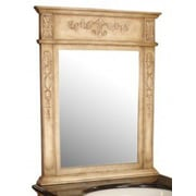 Empire Industries Verona Carved Mirror; Antique White