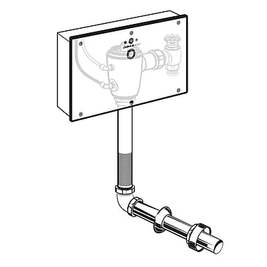 American Standard Concealed 1.28 GPF DC Wrist Blade Flush Valve, Exposed Back Spud