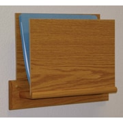 Wooden Mallet Open End Single Chart Holder - HIPPAA Compliant; Light Oak