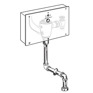 American Standard Concealed 0.125GPF Urinal Flush Valve w/ Top Spud