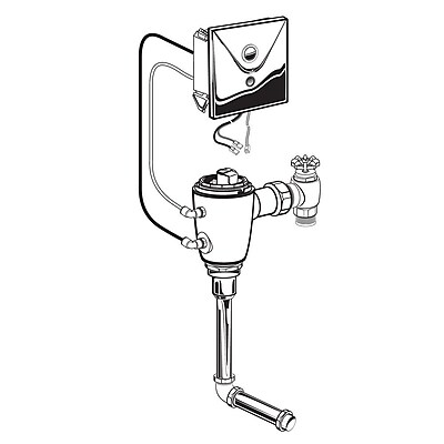 American Standard 6045051 Manual Flowise Urinal Flush