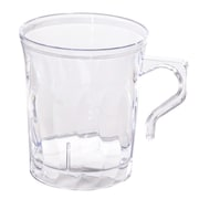 Fineline Settings, Inc Flairware Rippled Disposable Plastic 8 oz. Coffee Mug (288/Case); Clear