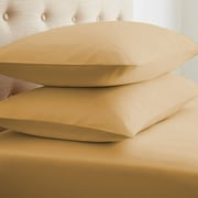 IEnjoy Home Simply Soft  Premium Double-Brushed Pillow Case (Set of 2); Gold