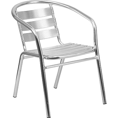 Flash Furniture Heavy-Duty Aluminum Commercial Indoor/Outdoor Restaurant Stack Chair with Triple-Slat Back (TLH1)