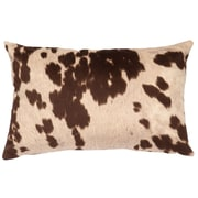 Wooded River Faux Hair on Hide Lumbar Pillow; Udder Brown