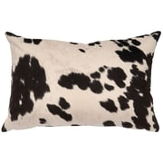 Wooded River Faux Hair on Hide Lumbar Pillow; Udder Domino