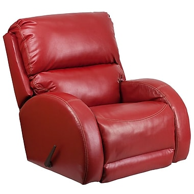 Flash Furniture – Fauteuil berçant inclinable contemporain Ty, cuir rouge (WA4990621)