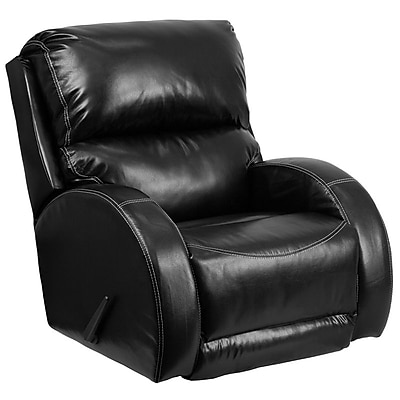 Flash Furniture Contemporary Ty Black Leather Rocker Recliner (WA4990622) 2108798